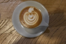 Nice latte art (poor photo).
