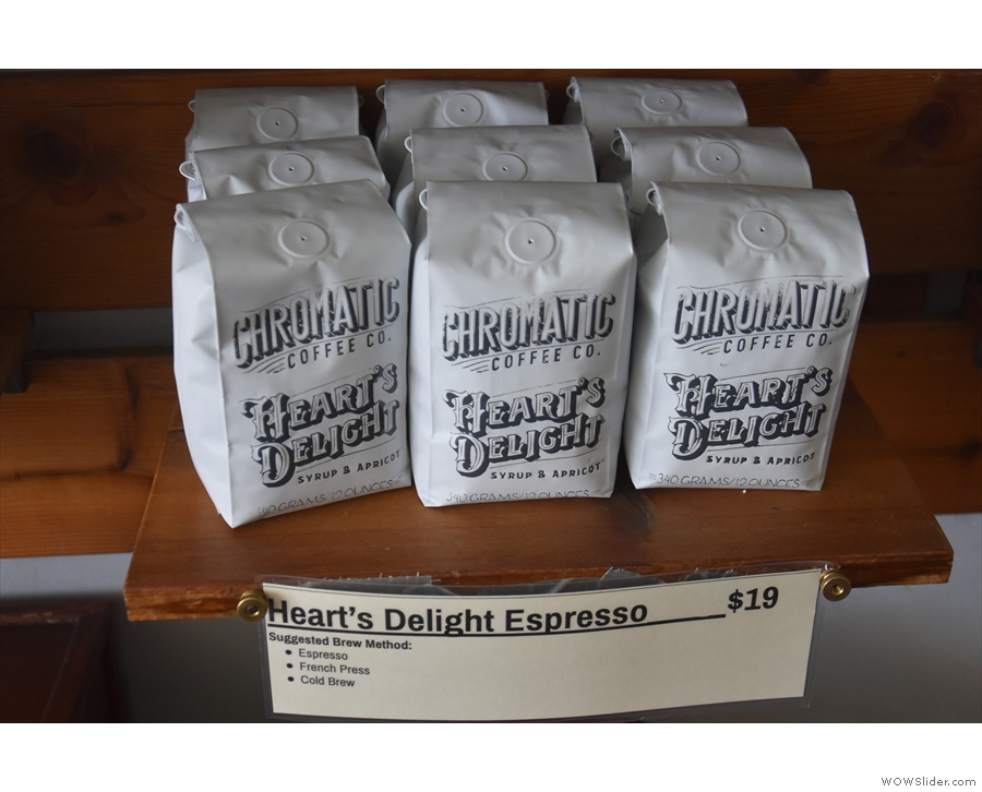 Heart's Delight is one of the two rotating house espresso blends...