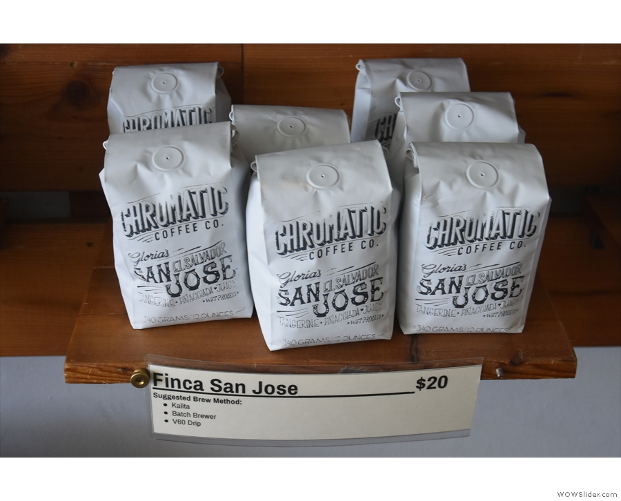 Coffee from San Jose, El Salvador, roasted in San Jose, California!