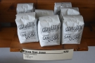 Coffee from San Jose, El Salvador, roasted in San Jose, California!