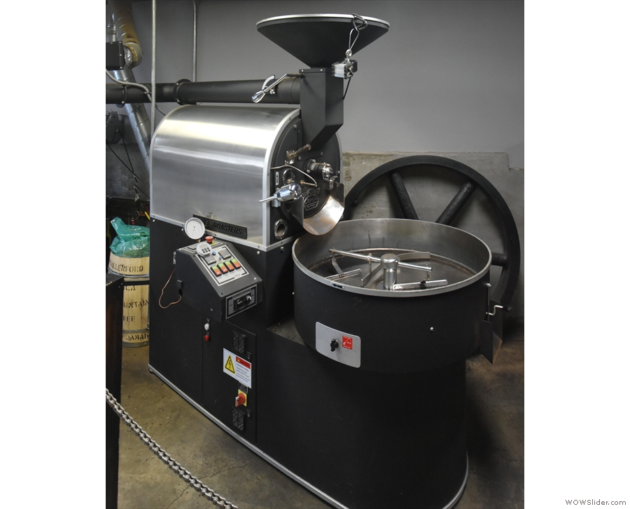 The roaster, a 15 kg model, is in action twice a week, but sadly not while I was there.