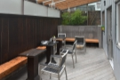 A final look at the outdoor seating area at the back.