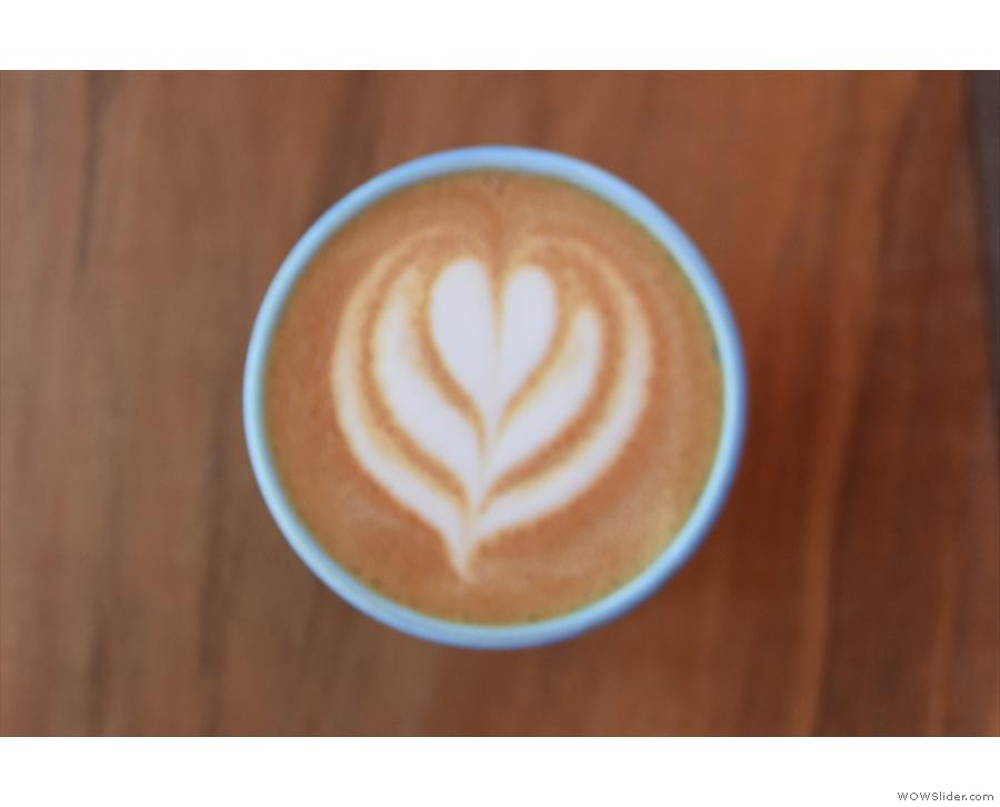 Pretty latte art...