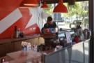 ... while finally, at the right-hand end, is the La Marzocco GB5 espresso machine...