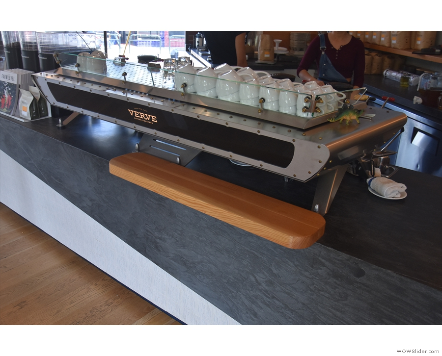 ... followed by the custom Kees van der Westen Spirit espresso machine.
