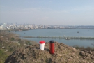 ... while this is the view east, over the Bai Di causeway back to Hangzhou.