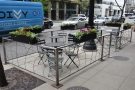 Another view of the outdoor seating, one that doesn't involve me standing in the street!