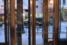 A more detailed view of the revolving door.