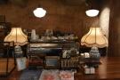 ... while to the right is the La Marzocco espresso machine...