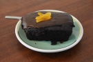 Finally, I will leave you with my slice of chocolate loaf cake.
