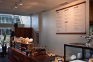 The counter is at the far end of Mojo, assuming you come in via the lobby.
