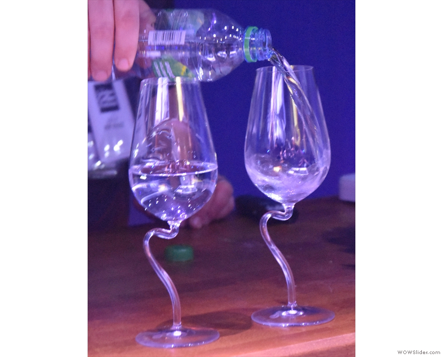 These had interesting stems which enabled you to hold the glass in different positions.