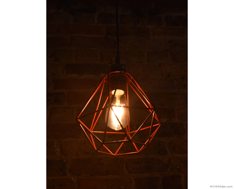 My favourites were these bare bulbs in metal lattice cases.