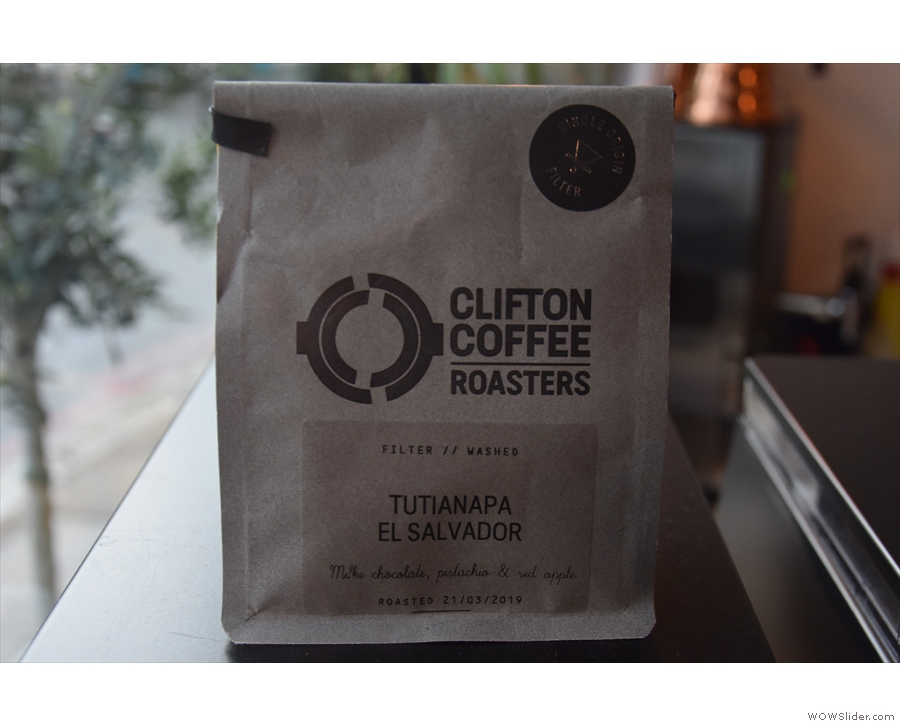 There were two options on the brew bar, an Ethiopian and another El Salvador.