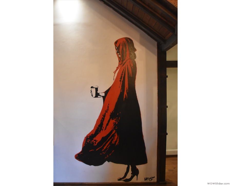 There's also a picture, at the back, of Little Red Riding Hood, and here she is...