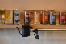 Dairy alternatives, old friends Kokoa Collection and Canton Tea, all on a shelf.