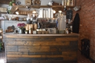 Another view of the side of the counter, home to the espresso machine.