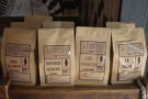 ... single-origin retail bags from Mission Coffee Works, Mouse Tail's roasting arm.