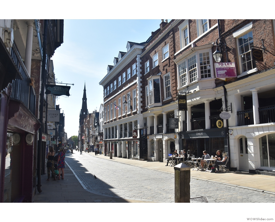 Chester's Watergate Street, home to Chalk Coffee...