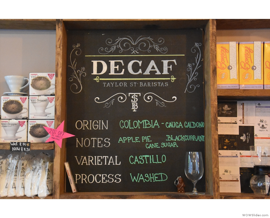 ... while it's good to see decaf being given such prominence.
