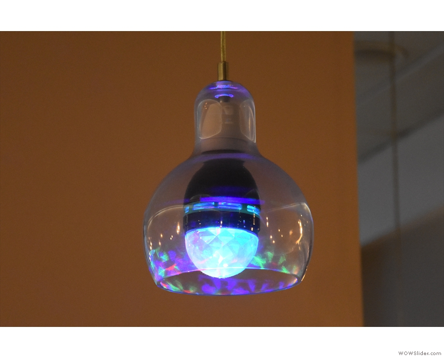 ... although this rotating disco lights above the counter were a close second.