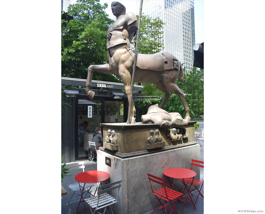 ... which sports a statue of a centaur.