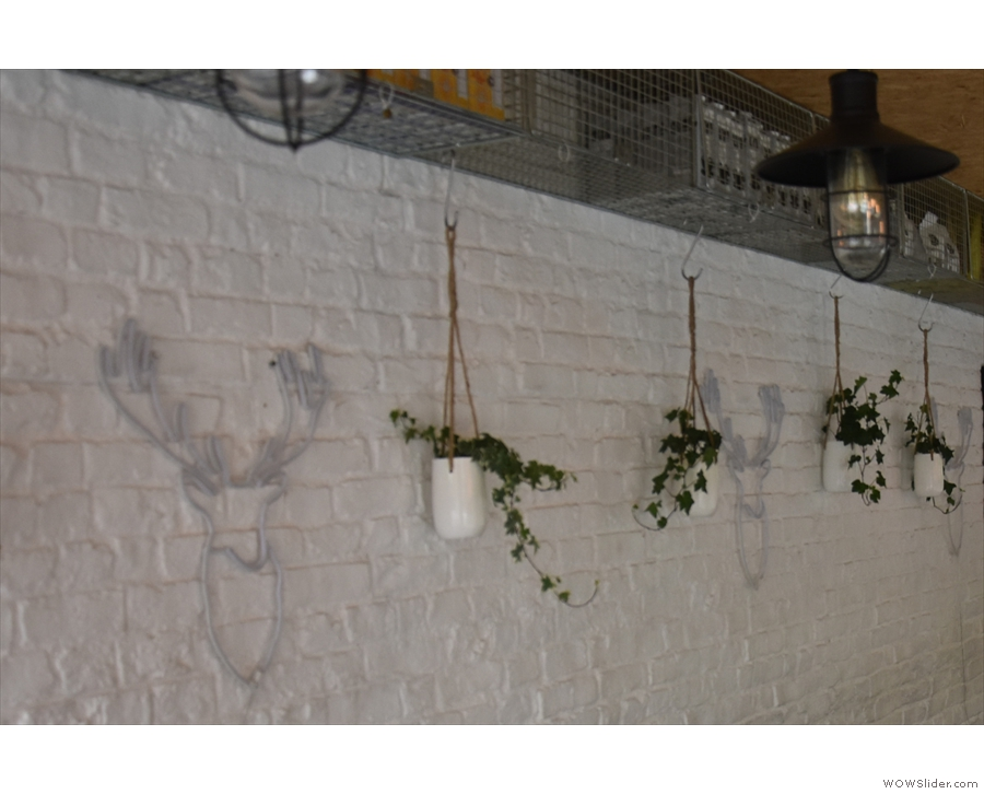 640East is a very green spot with many nice touches, including these wall planters...