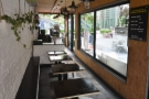 Another view of the indoor seating. During the week, the counter at the far end...