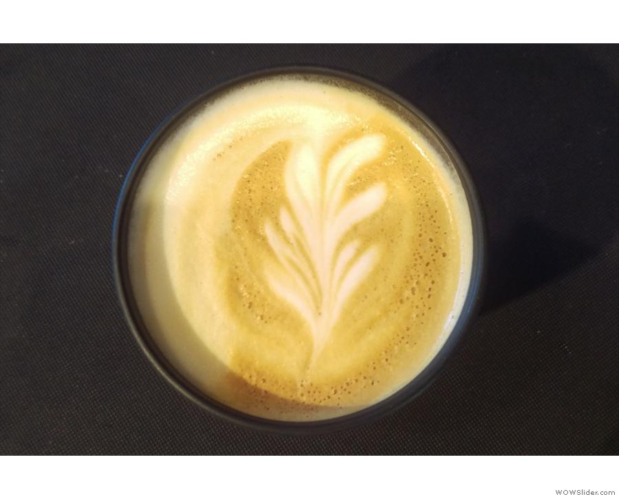 Excellent latte art.