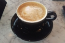 I visited every day: this was my first flat white, after work on Monday...