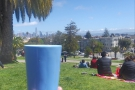 Then I turned tourist, visiting San Francisco. Here my Therma Cup enjoys Dolores Park.