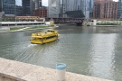 ... some walks along the Chicago River. Here my rCup checks out a water taxi.