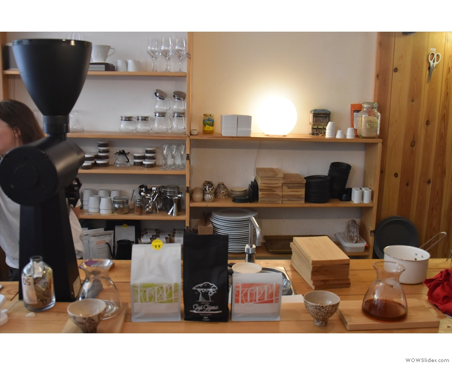 I then went to try the pour-over, with some of the options laid out on the counter.
