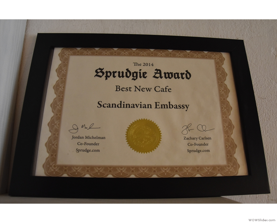The award-winning Scandinavian Embassy.
