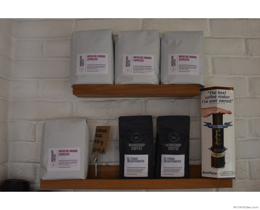 ... but there's some coffee kit as well. All the coffee is from Workshop, by the way...
