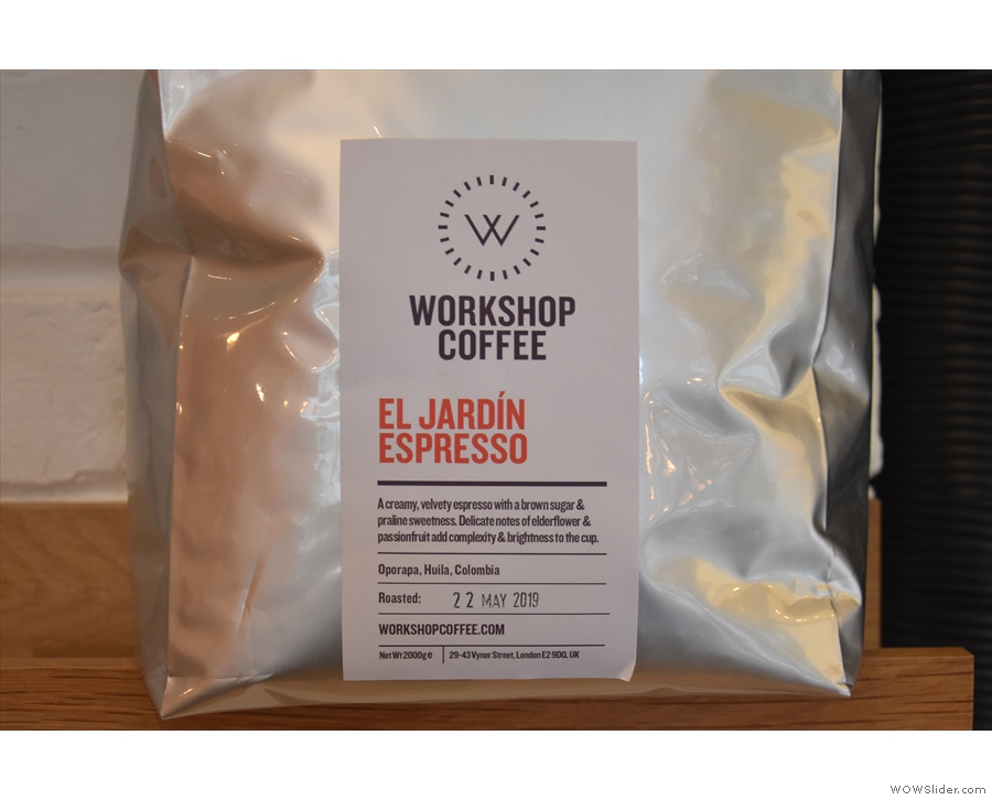 ... with this El Jardin Colombian single-origin on espresso during my visit.