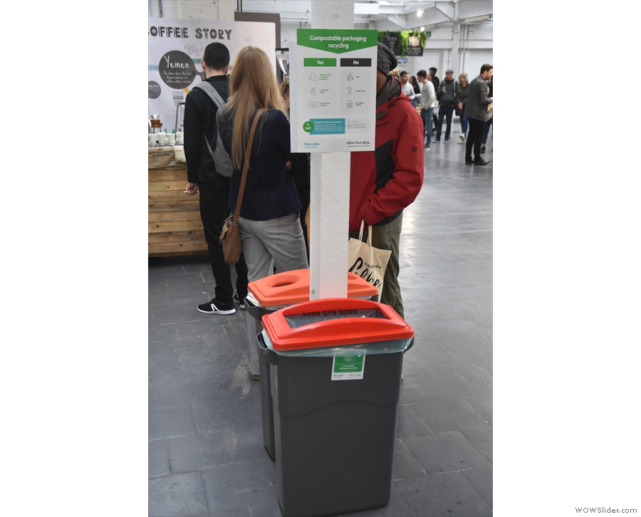 There were plenty of recycling bins as well, clearly signposted and regularly emptied.