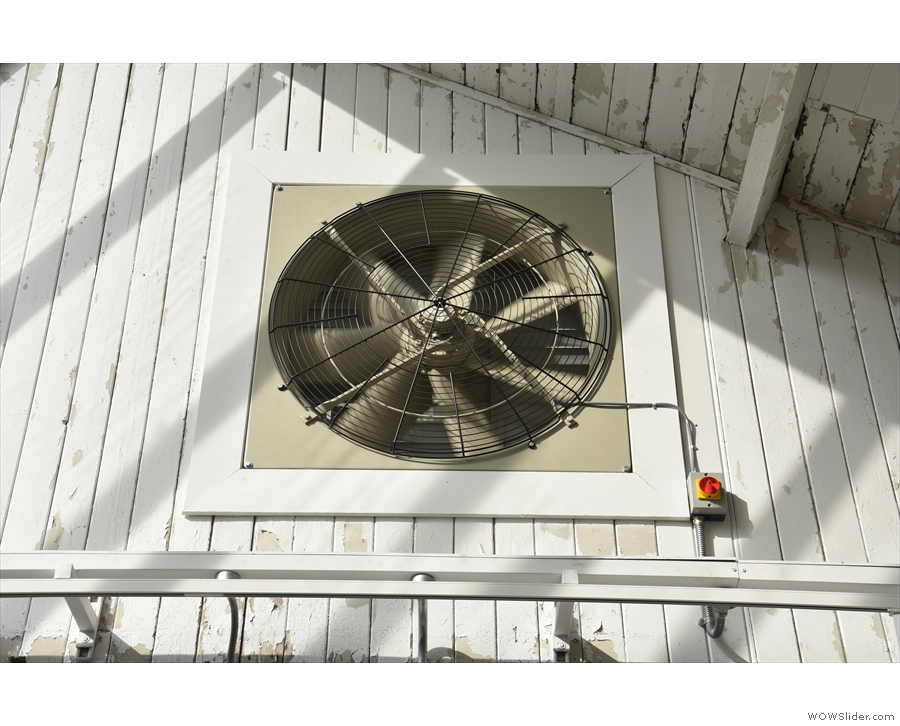 It got very hot last year, so the provision of multiple extractor fans was very welcome!