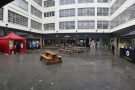On Friday, the street food was in the rather rainy Custard Factory courtyard...