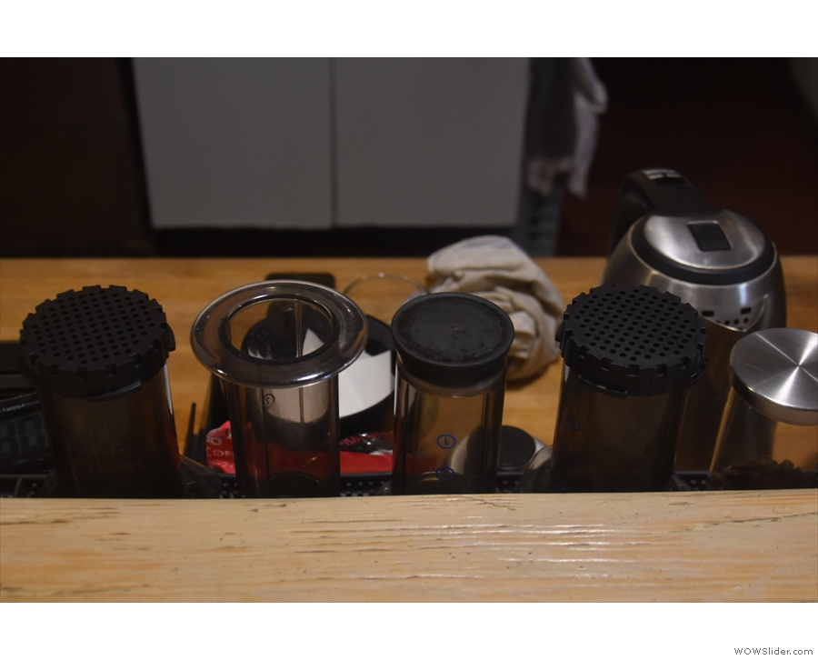 ... as well as Aeropress. You can have any of the single-origins in stock.