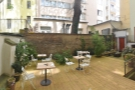 Meanwhile, here's a panoramic view from the left-hand corner. The decking extends to...