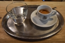 I followed this up with a shot of espresso, again served on a tray.