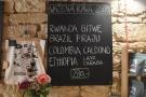 Pražírna Kavárna only roasts single-origins. This was the selection during my visit.