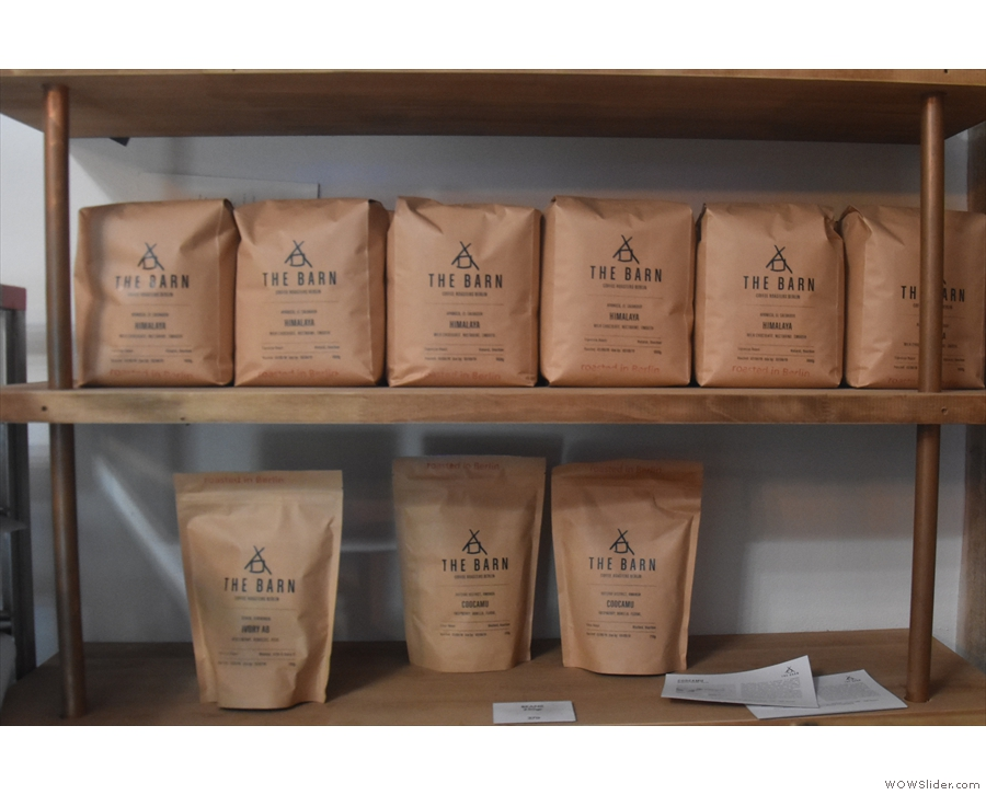 There's plenty of coffee from the current guest roaster, The Barn from Berlin.