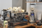 ... with the La Marzocco Linea espresso machine in the back corner.