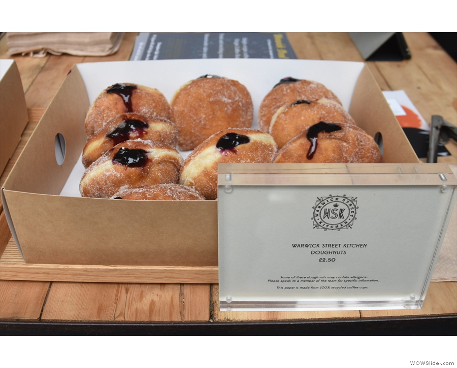 As well as coffee, there were doughnuts from Warwick Street Kitchen.