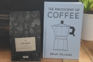 Before I left, I swapped a bag of the Liza Decaf for a copy of The Philosophy of Coffee.