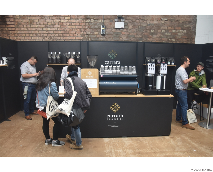 The Carrara Collection stand in Zone 1 at this year's Birmingham Coffee Festival...