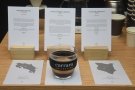 ... where I tried out the new espresso blend, shown here with its components.