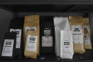 The retail shelves stock Coffee Source's considerable output, including blends...